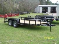 New 2011 16 Ft. Pipe Top Utility Trailer with treated