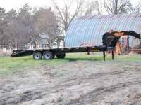 New 2011 25' GN Elite Flatbed Trailer 7000 # 2 Jacks 3