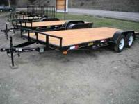 New 2011 Equipment Trailers, with 7' ramps, 14,000 GVW,