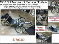 http://terratrike.com/rover.php  This bike is equipped