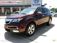Description Make: Acura Model: MDX Year: 2011 VIN