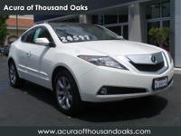 Options:  2011 Acura Zdx Advance Pkg|White/|V6 3.7L