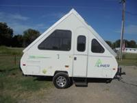 This Aliner travel trailer camper is well equipped for