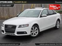 This 2011 Audi A4 4dr 4dr Sedan CVT FrontTrak 2.0T