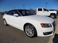 Ibis White/Brown Roof 2011 Audi A5 2.0T Premium quattro