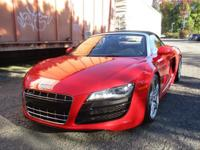 2011 Audi R8 Spyder equipped with a 5.2L 525HP V10