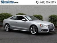 One Proprietor 2011 Audi S5 Quattro Fee Plus Coupe,
