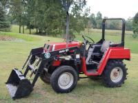 Belarus model 2011 tractor & Bush Hog brand 1846 model