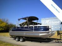 This 22 foot Birkshire Pontoon comes geared up with an
