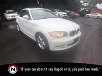 White 2011 BMW 1 Series 128i RWD Automatic 3.0L I6 DOHC