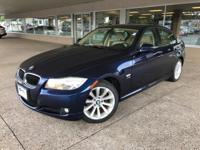 Clean CARFAX. LeMans Blue Metallic 2011 BMW 3 Series