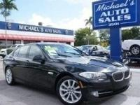 Options:  2011 Bmw 5 Series 528I|Black|**99 Point