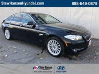 Jet Black 2011 BMW 5 Series 535i xDrive AWD 8-Speed