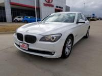 Leather. Recent Arrival! Clean CARFAX. White 2011 BMW 7
