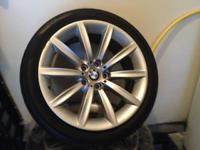 2011 BMW FACTORY WHEELS AND TIRES, EXCELLENT CONDITION