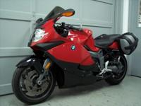 2011 BMW K1300S, red with 28k miles. This bike is