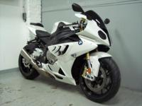 2011 BMW S1000RR, white with only 6510 miles. This bike