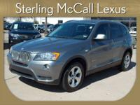 Sterling McCall Lexus presents this 2011 BMW X3 AWD 4DR