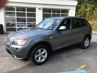 2011 BMW X3 Automatic 8-Speed   Includes a CARFAX