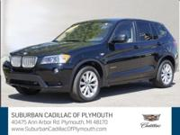 CARFAX One-Owner. Carbon Black Metallic 2011 BMW X3