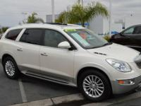 New Price! CARFAX One-Owner. White 2011 Buick Enclave