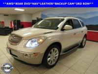 LEATHER, NAVIGATION, REAR DVD, and SUNROOF. Enclave CXL