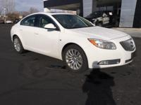 Clean CARFAX. Summit White 2011 Buick Regal CXL FWD
