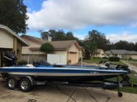 "2011 Bullet Bass Boat 21'10"" 225 OptiMax, Duel Power"