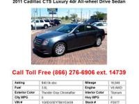 2011 Cadillac CTS Black Premium 2dr All-wheel Drive