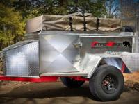 This is a severe off road camp trailer made from