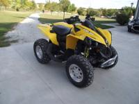 2011 Can Am Renegade 500 4 wheeler, almost new