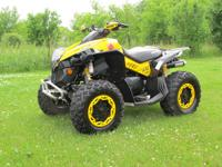 The ATV is in EXCELLENT shape with only 820 miles. It