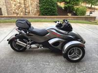Can-Am Spyder RS which only has 5,824 miles on its