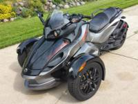 For sale is my can am spyder ... only 3000 miles on it,