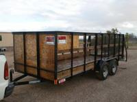 2011 Carson tandom axle 16ft trailer. Ramp gate. Four
