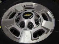 2011 Chevrolet 8 Lug Wheels & 10 Ply Tires LT265-70-17