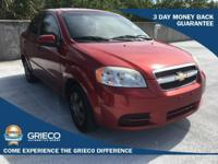 New Price! Clean CARFAX. 2011 Chevrolet Aveo 1LT Red