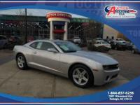 This is a 2011 Chevrolet Camaro LT that is silver ice