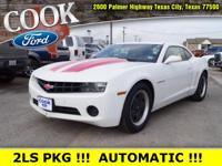 White 2011 Chevrolet Camaro 2LS RWD 6-Speed Automatic