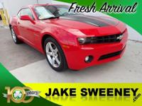 Our 2011 Chevrolet Camaro Coupe 1LT in Victory Red is