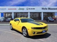 2011 CHEVROLET CAMARO 1LT IN RALLY YELLOW!!  ONE