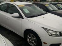 CLEAN WHITE CAR WITH GRAY INTERIOR. LT TRIM LEVEL. 1.4