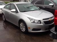 2011 Chevrolet Cruze 1LT In Silver. Turbo! Wow! What a