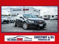 2011 Chevrolet Cruze LT in Black Granite Metallic with