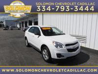 2011 Chevrolet Equinox LS in White vehicle highlights