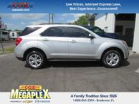 This 2011 Chevrolet Equinox LT in Silver Ice Metallic