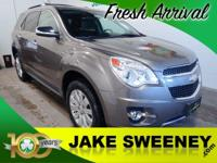 This 2011 Chevrolet Equinox LTZ presented in Mocha