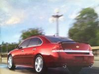 2011 Chevy Impala dealer brochure listing all