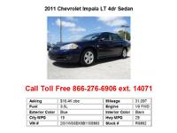 2011 Chevrolet Impala LT 4dr Sedan Sedan 4 Doors Blue
