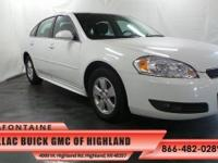 2011 Chevrolet Impala LT in Summit White. Why pay more